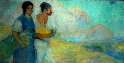 David Alfaro Siqueiros, 'Peasants', 1913