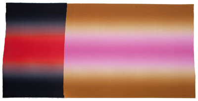 Polly Apfelbaum, 'Hombre Black Red Black, Brown Pink Brown', 2012
