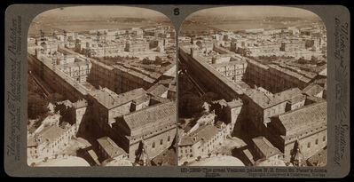 Bert Underwood, 'Vatican palace from St. Peter's dome', 1900
