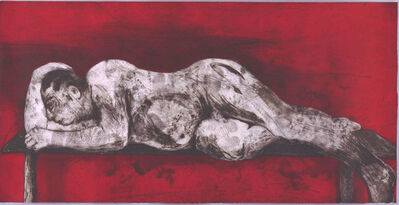 William Kentridge, 'Sleeper - Red', 1997