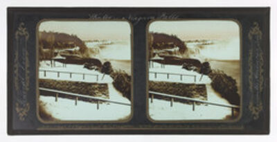 Frederick and William Langenheim, 'Winter Niagara Falls, General View from the American Side', 1856