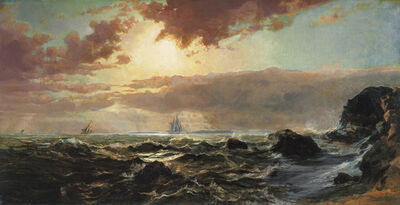 Arthur Quartley, 'Afternoon, Rhode Island Coast', 1872
