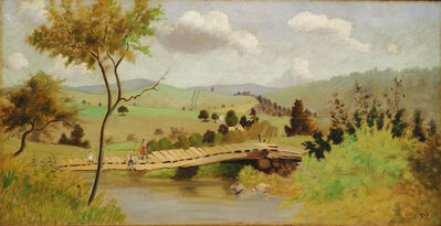 Louis Michel Eilshemius, 'Adirondacks: Bridge for Fishing', 1897