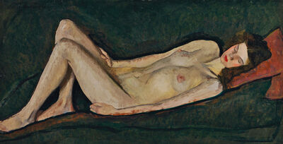 William Auerbach-Levy, 'Nude on Green'