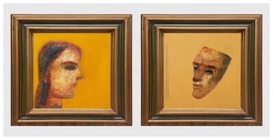 "Tapas Ghoshal, 'Face Series, Acrylic on Canvas by Contemporary Artist ""In Stock""', 2014"
