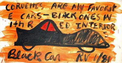 R.V. (Robin Vanarsdol), 'Black Car', 1981