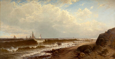 Alfred Thompson Bricher, 'Noon at Point Judith', 1877