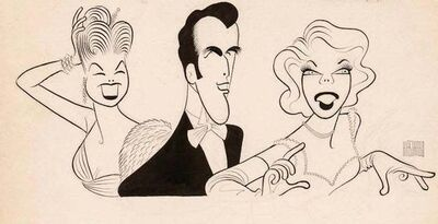 Al Hirschfield, 'Original TV Guide Illustration Caricature Esther Williams John Raitt Dinah Shore', 1957