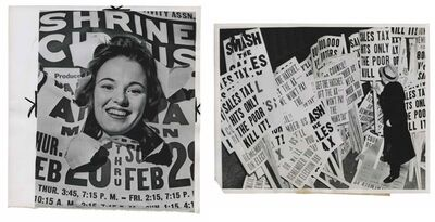 Murray Moss, 'TQ 91/92: Aerialist Mary Lou Lawrence/Signs of Irate Philadelphians', 1965/1938
