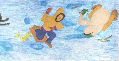 Shuvinai Ashoona, 'Untitled (Ice Fishing)', 2018