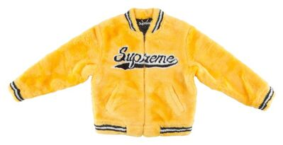 Supreme, 'Faux Fur Varsity Jacket', 2020