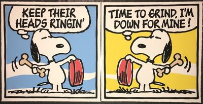 "Mark Drew, 'Mark Drew Diptych Print Set Exclusive ""Time to Grind"" & ""Keep Their Heads Ringing"" The Peanuts Charles Schulz', 2019"