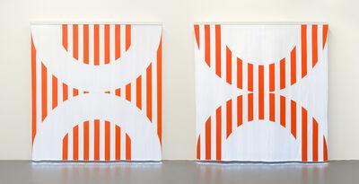 Daniel Buren, 'Fibres optiques — Orange. Diptyque CC1+DD1', 2014