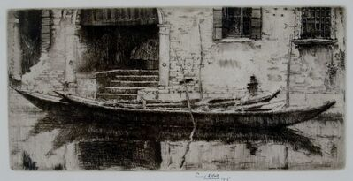 Ernest David Roth, 'Moored Sandolo, Venice', 1905