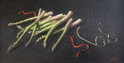 Alvin Ross, 'Asparagus with Glasses', ca. 1960