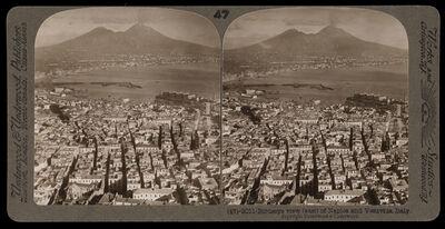 Bert Underwood, 'Birdseye view of Naples and Vesuvius', 1900