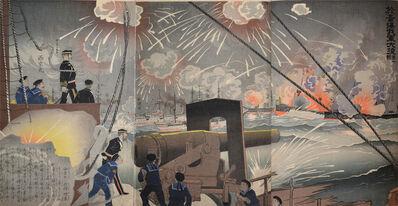 Kobayashi Kiyochika 小林清親, 'Great Victory at the Battle of Yellow Sea', 1894