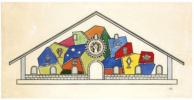 Fernand Léger, 'Etude pour la Façade de l'Eglise Notre-Dame-de-Toute-Grâce (Plateau d'Assy, Haute Savoie)', 1947