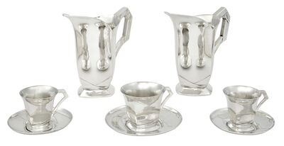 Louis Süe and André Mare, 'Group of Louis Süe et André Mare Silver Plated Table Articles, For Christofle', 1930s
