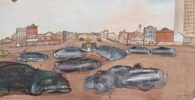 Saul Steinberg, 'Main Street Cars', 1953
