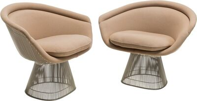 Warren Platner, 'Pair of Lounge Chairs', circa 1980