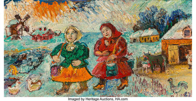 David Burliuk, 'Peasant Women', 1927