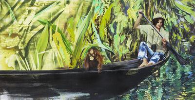 Paulina Olowska, 'On the Boat (Birute Galdikas + Carl)', 2017