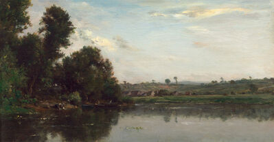 Charles François Daubigny, 'Washerwomen at the Oise River near Valmondois', 1865