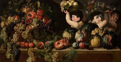 Bartolomeo Cavarozzi, 'Still Life of Fruit with Three Figures of Children (Allegory of Autumn)'