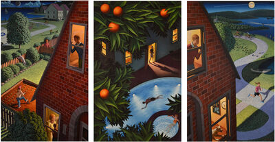 Leonard Koscianski, 'A Suburban Triptych', 2019-2020