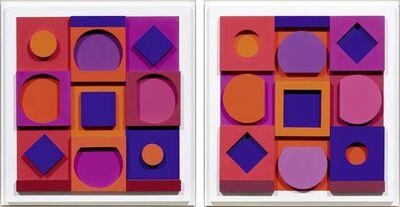 Victor Vasarely, 'Granat (positif); Granat (négatif)', 1967