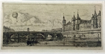 Charles Meryon, 'LE PONT AU CHANGE', 1854