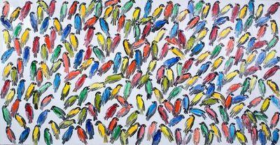Hunt Slonem, 'Finches (CER00241)', 2017