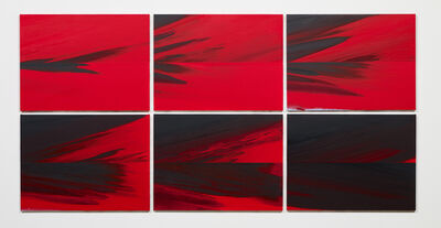 Barnaby Furnas, 'Last Day (Red to Black in 6 parts)', 2013