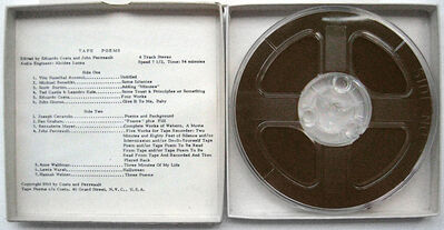 Eduardo Costa, 'Tape Poems. ', 1969