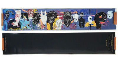 "Jean-Michel Basquiat, '""AFRICAN MASKS"", 2002, Invitation/Poster,  Gagosian Gallery Beverly ', 2002"