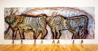 Mario Merz, 'Bisonti (Se la forma scompare, la sua radice e eterna) ', 1982