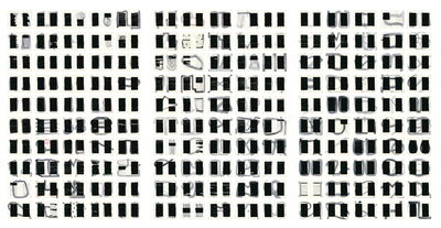 Elena del Rivero, 'First Censored Letter to The Mother (Black Letters) I, II, III', 2015