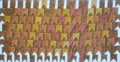 Alfredo Volpi, 'Bandeirinhas estruturadas com mastros', 1960's