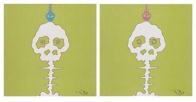 Takashi Murakami, 'Time Bokan- green, LIME GREEN-TIME', 2006-08