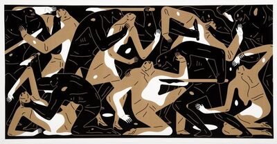 Cleon Peterson, 'Poison in the Mind (Gold)', 2019