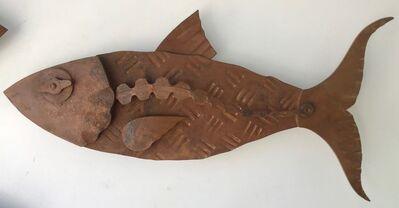 "Hugh Holborn, '""Albulidae #3"" forged salvage steel fish wall sculpture', 2019"