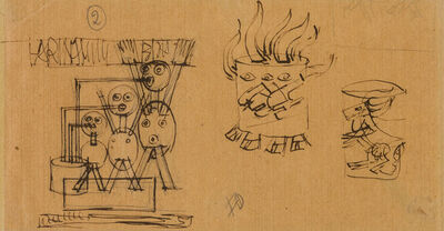 Fortunato Depero, 'Advertising studies for Farina Lattea Erba', 1921 c.