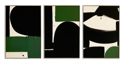 Liza Giles, 'GREEN & BLACK TRIPTYCH (COMPOSITION II)', 2020