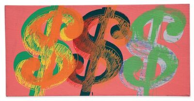 Andy Warhol, 'Dollar Sign (Pink Background)', 1981