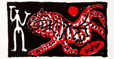 A.R. Penck, 'Tiger und Jäger', 1990