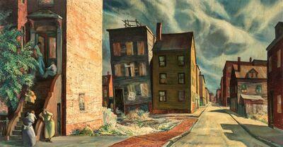 Sam Thal, 'Street - Narrow View', circa 1950