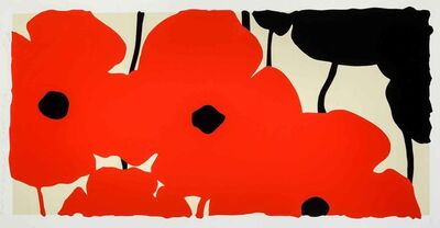 Donald Sultan, 'Red Poppies', 2020