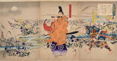 Tsukioka Yoshitoshi, 'Autumn Moon at Toin [Flute Player Triptych]', 1894