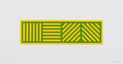 """Sol LeWitt, '""""Lines in Four Directions in Color on Color, Plate #1"""", 2005'"""